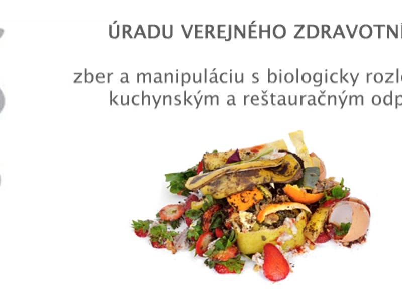 Úrad verejného zdravotníctva, nakladanie s kuchynským a reštauračným odpadom